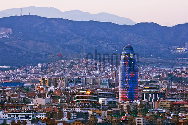 Barcelona Skyline and Agbar Tower