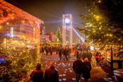 Glitterball in the Centre of the St Pauli Christmas Market