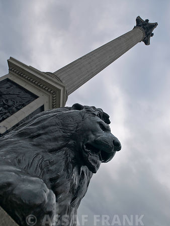 London, Nelson column, low angle view