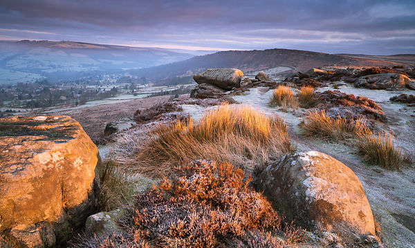 Frosty morning on Baslow Edge