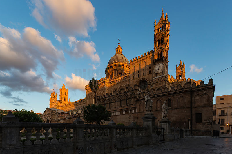 Palermo Cathedral at Sunrise