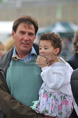 Cottesmore Hunt Master Richard Hunnisett with his daughter