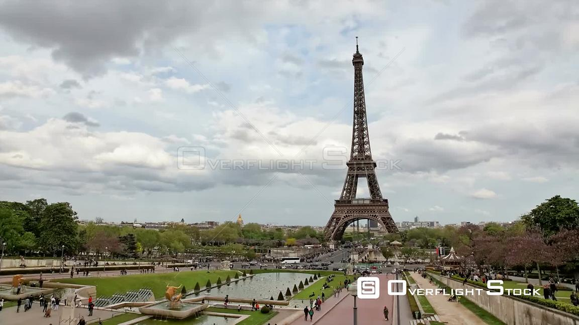 Timelapse of Eiffel Tower Paris France