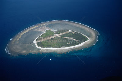 Aerial view of Lady Elliot Island, Great Barrier Reef, Queensland, Australia