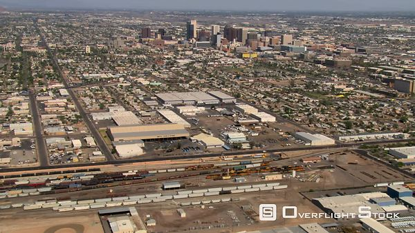 Approach to Phoenix over industrial area.