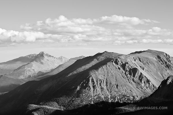 VIEW FROM TRAIL RIDGE ROAD ROCKY MOUNTAIN NATIONAL PARK COLORADO BLACK AND WHITE