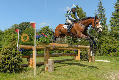 Alice Pearson and CIAOS, Fairfax & Favor Rockingham Horse Trials 2018