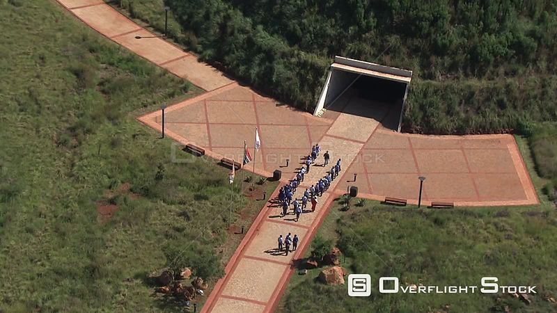 Aerial shot of the Cradle of Humankind Johannesburg Gauteng South Africa