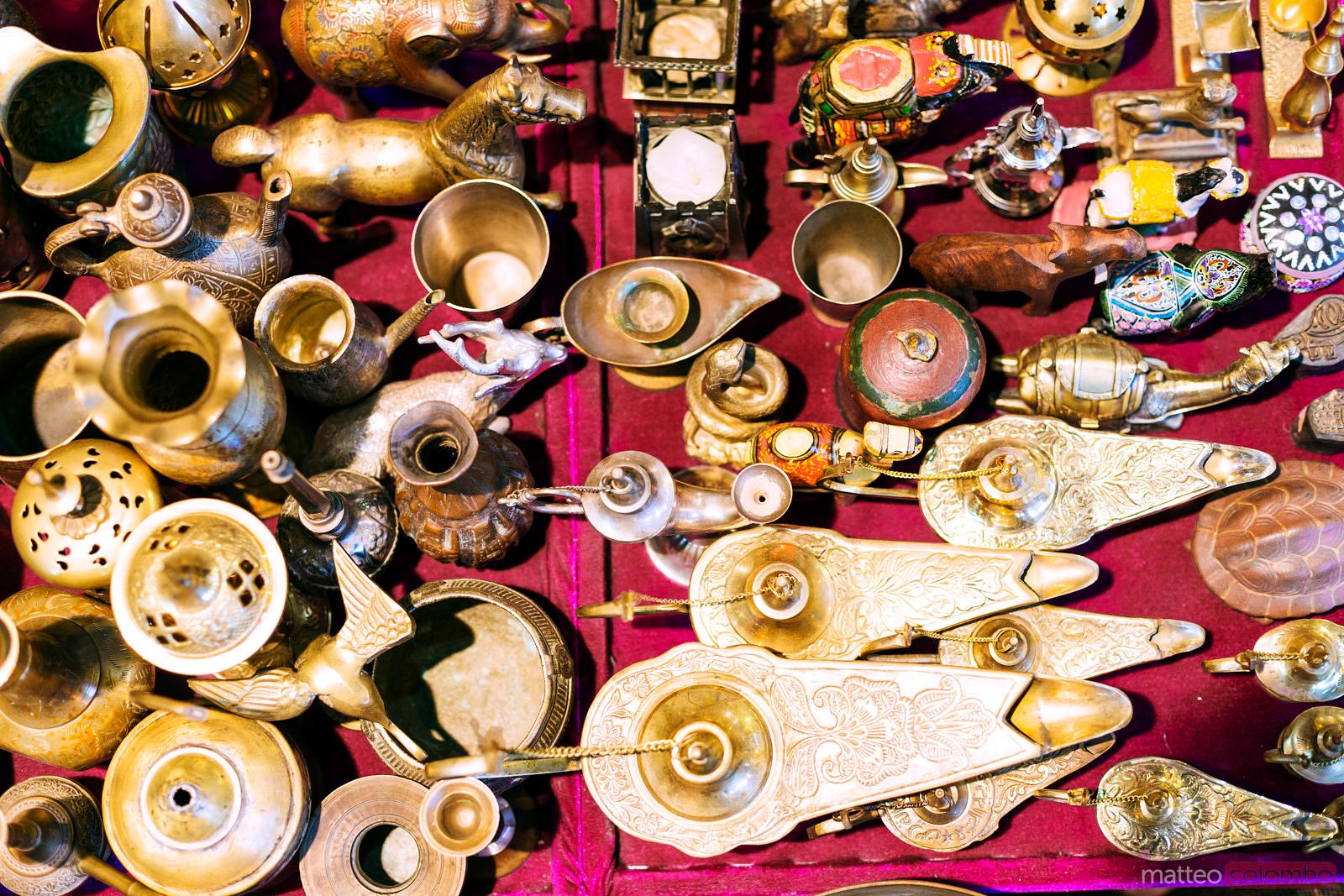 Souvenirs for sale at the old souk of Muscat, Oman