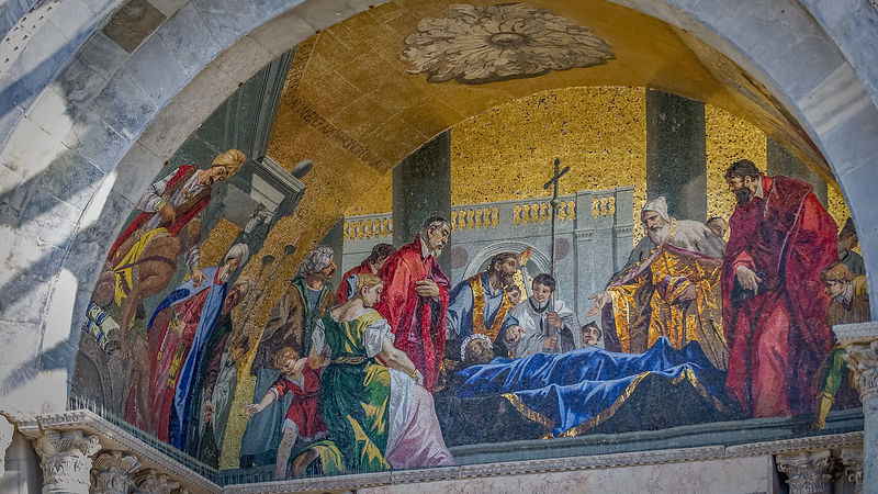 Mosaic Above Entrance to Basilica di San Marco, Venice
