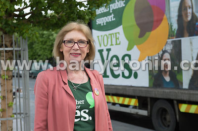 NO REPRO FEES - 11th May, 2018. Pictured at the 'Get Together For Yes' tour at Limerick city is Jan O'Sullivan TD.Orla O'Conn...