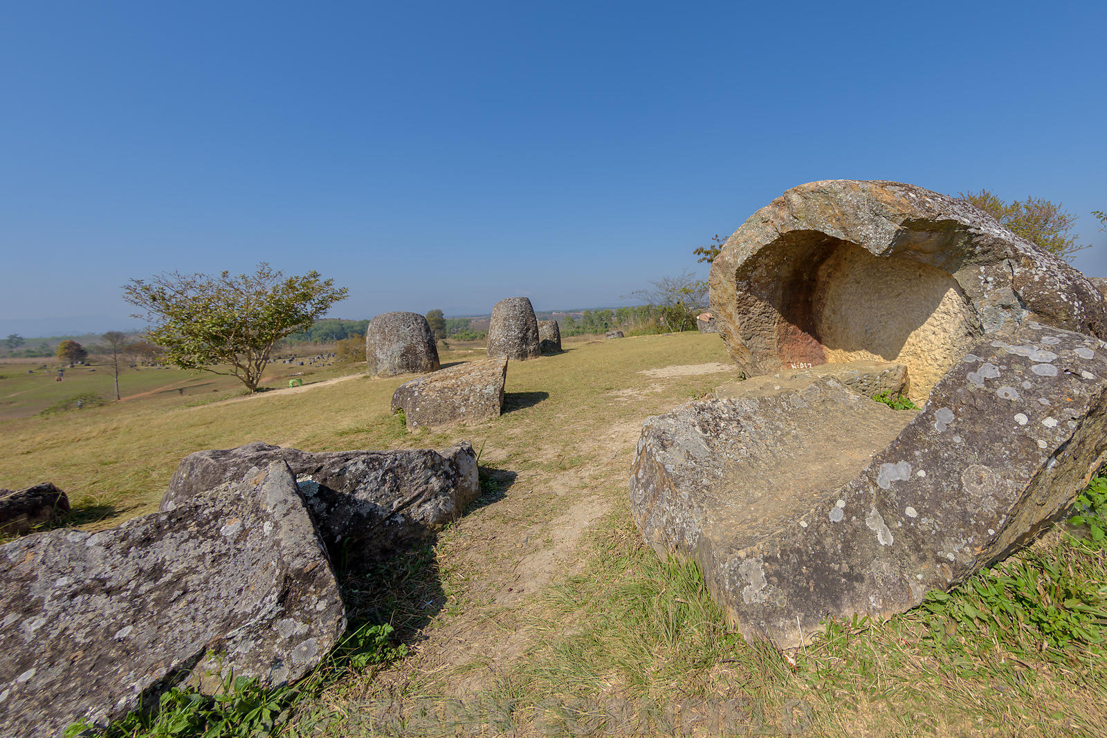Plain of Jars, Thong Hai Hin Site 1, at Thomghaihin near the town of Phonsavan in the province Xieng Khuang in Laos in Southe...