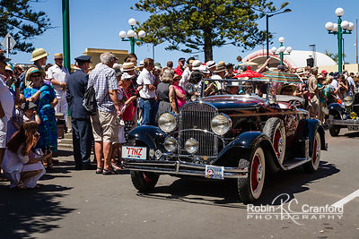 Art Deco Saturday 2012 - Vintage Car Parade.  License Plate = 77NZ
