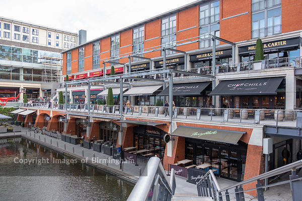 The Mailbox development alongside the canals of Birmingham
