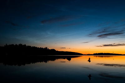 Noctilucent Clouds (NLCs) above the lake Vesijärvi in Southern Finland on July 10 2018.