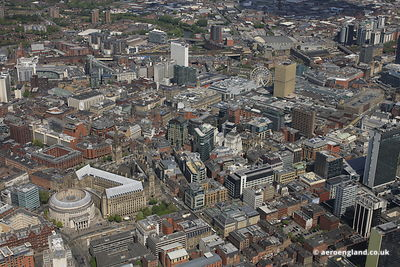 Manchester City Centre from above