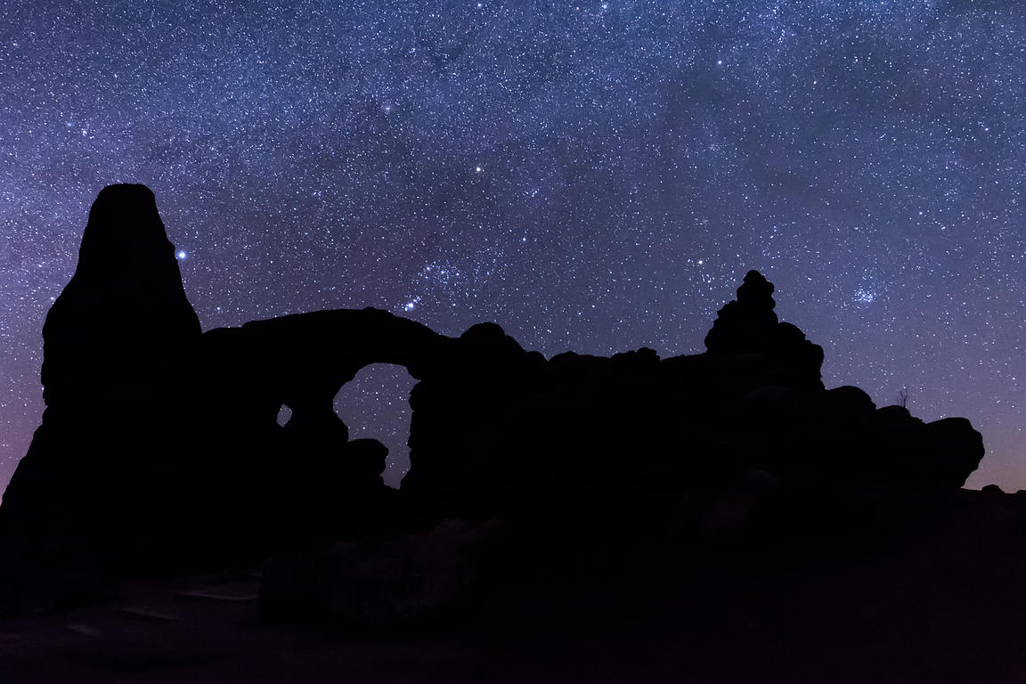 Orion Sets Below Turret Arch