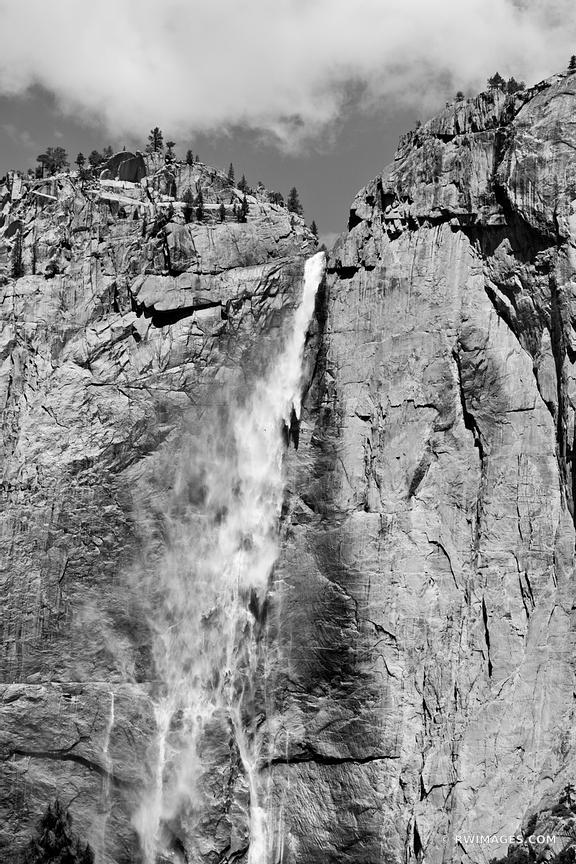 UPPER YOSEMITE FALLS YOSEMITE NATIONAL PARK BLACK AND WHITE