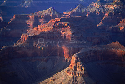 Grand Canyon (aerial view). Arizona, USA