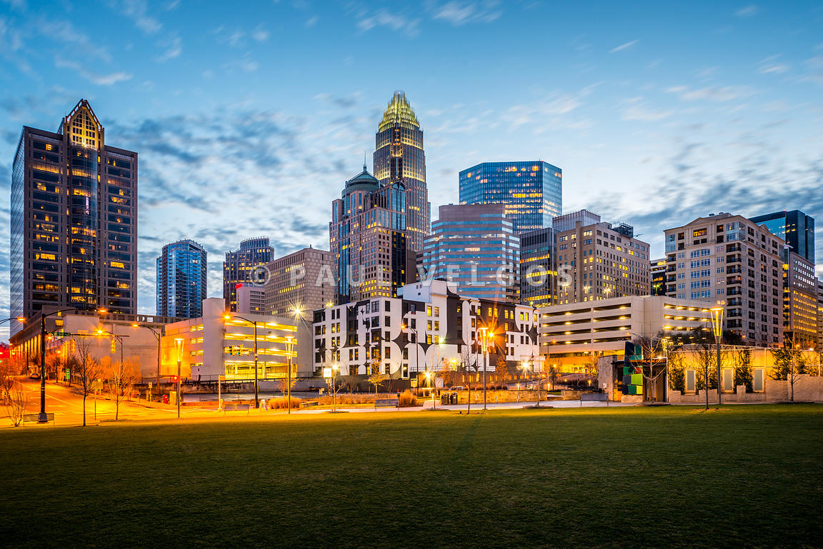 Downtown Charlotte Skyline at Dusk