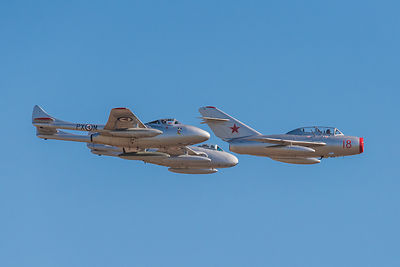 Two Vampires and a MiG 15