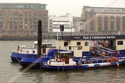 The Pace Fuel and Lubrication Barge on The River Thames