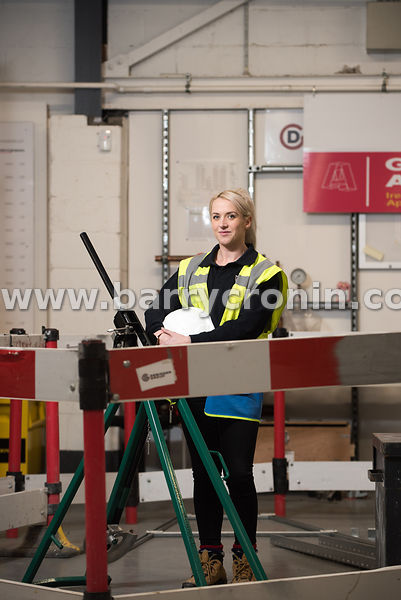 4th March, 2019.Rebecca Hughes, electrician turned Health and Safety Officer photographed in Dublin.Photo:Barry Cronin/www.ba...