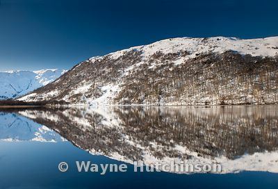 Winter Reflections on Brotherswater in the English Lake District