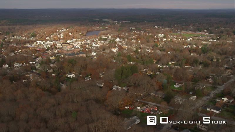 Approaching and Flying Over Danielson, Rhode Island. Shot in November