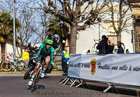 The Cyclist Jerome Vincent- Paris Nice 2013 Prologue in Houilles