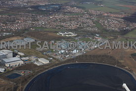 Widnes aerial photograph of Innospec chemical plant on Bennett's Lane
