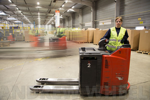 Portraits of employees at La Poste's parcel sorting centre in Val de Reuil