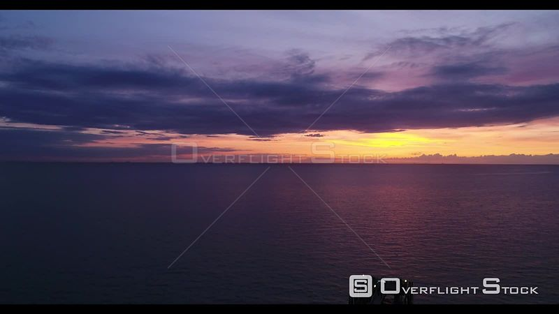 Sunset over the pier in Wustrow in Mecklenburg-Vorpommern, Germany