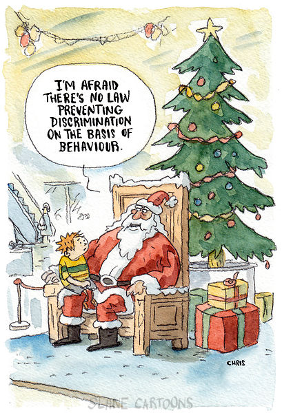 Santa's bad-behaviour bias