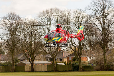 The Thames Valley Air Ambulance Landing on a Mission in Banbury