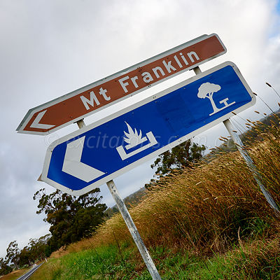 Mt Franklin road sign