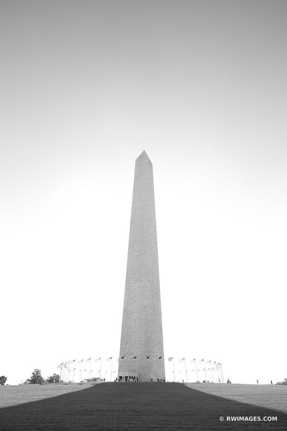 WASHINGTON MONUMENT NATIONAL MALL WASHINGTON DC BLACK AND WHITE VERTICAL