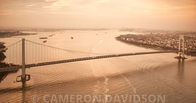 Verrazano–Narrows Bridge at sunset