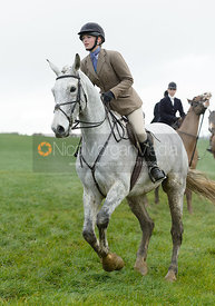 Lily Packe Drury Lowe at Knossington Spinney - The Fitzwilliam Hunt visit the Cottesmore at Burrough House