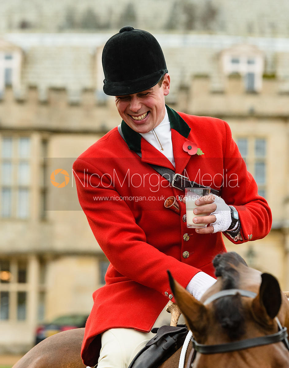 Simon Hunter at Fitzwilliam Hunt Opening Meet 2018.