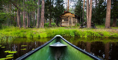 Laukkujärvi wilderness cabin