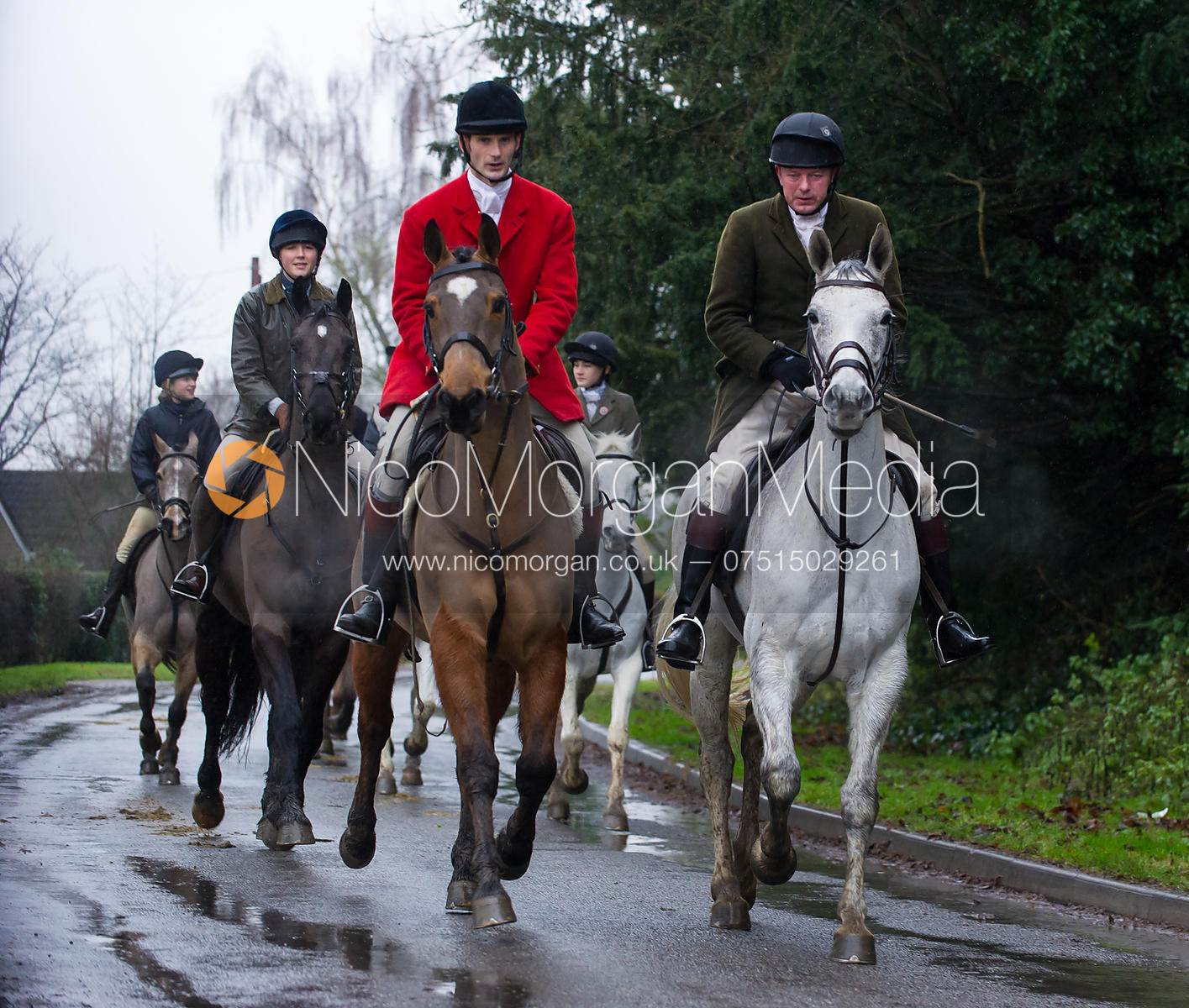 Alex Knott and Andrew Collie - The Cottesmore Hunt at Belton-in-Rutland 21/12