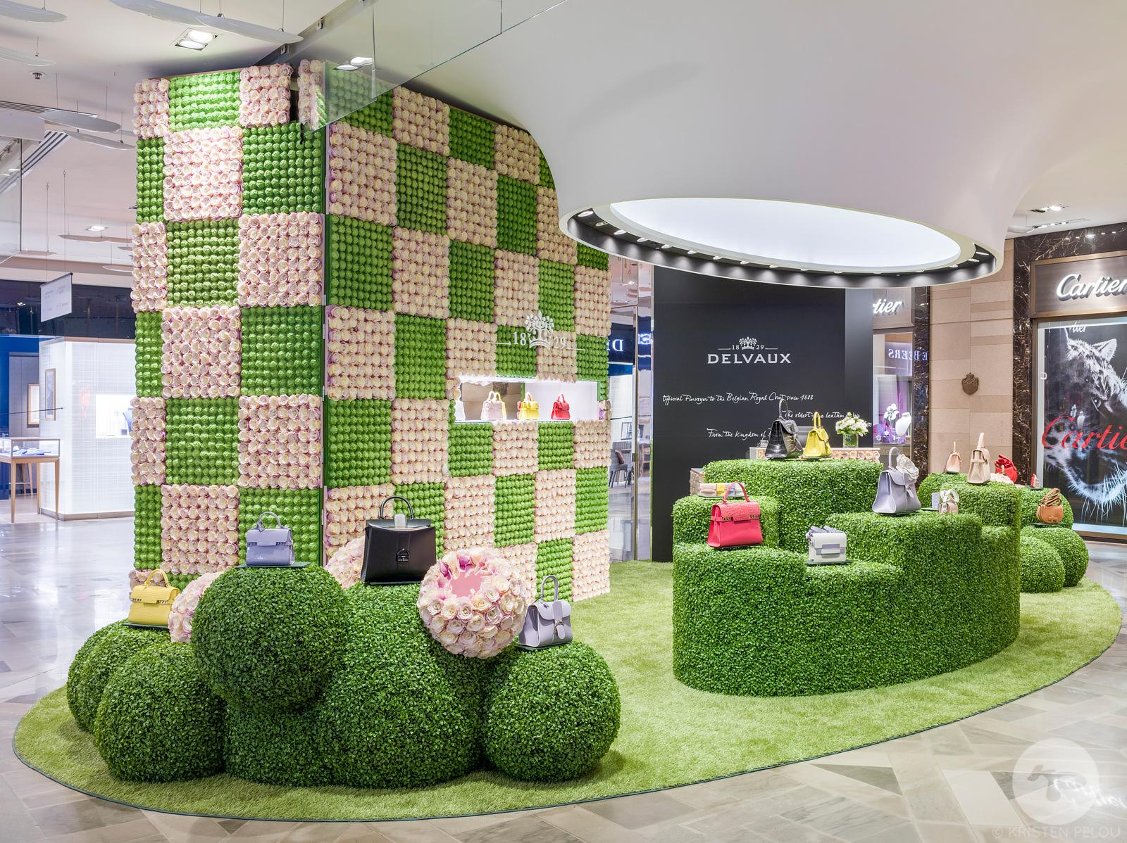 Pop up store by Delvaux, Galeries Lafayette, Paris, France.