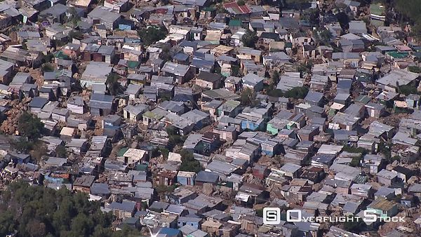 Aerial shot over the Cape Flats in Cape Town. Cape Town Western Cape South Africa
