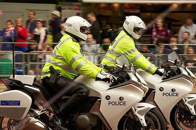 Police Motorcyclists in The Mall
