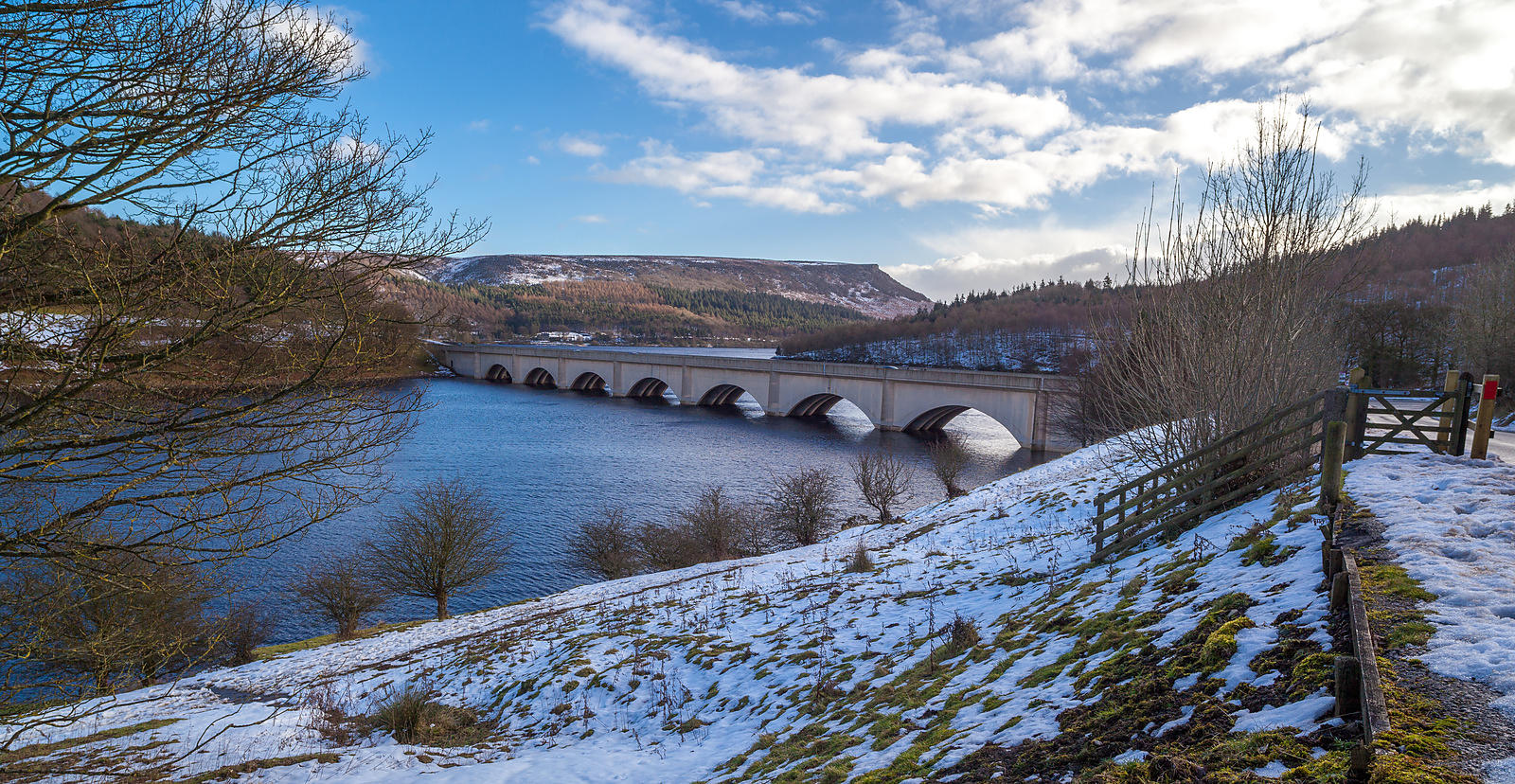 Ashopton Bridge, winter Ladybower