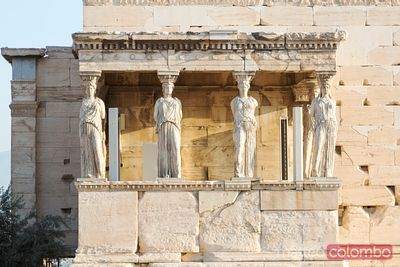 Temple on the Acropolis of Athens, Greece