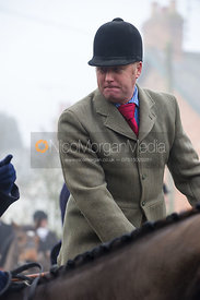 Russell Atkin at the meet - The Cottesmore Hunt at the Blue Ball 11/12