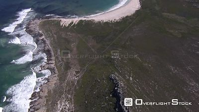 Aerial shot of a beach in Cape Town. Cape Town Western Cape South Africa