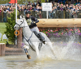 Natalie Blundell and ALGEBRA - Cross Country phase, Mitsubishi Motors Badminton Horse Trials 2014